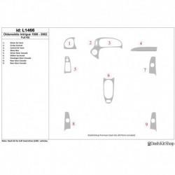 Накладки салона под дерево, карбон, алюминий для Oldsmobile Intrigue 1998-2002. Комплект L1466.