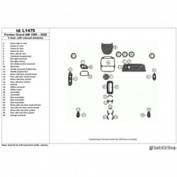 Накладки салона под дерево, карбон, алюминий для Pontiac Grand Am 1999-2000. Комплект L1475.