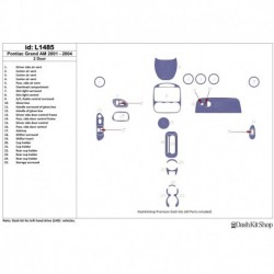 Накладки салона под дерево, карбон, алюминий для Pontiac Grand Am 2001-2004. Комплект L1485.