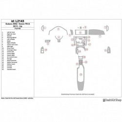 Накладки салона под дерево, карбон, алюминий для Scion FR-S 2013-UP. Комплект L2143.