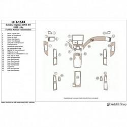 Накладки салона под дерево, карбон, алюминий для Subaru Impreza 2009-UP. Комплект L1544.