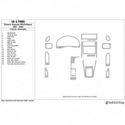 Накладки салона под дерево, карбон, алюминий для Subaru Impreza RS 1997-UP. Комплект L1560.