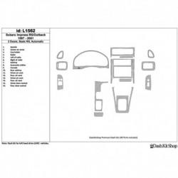 Накладки салона под дерево, карбон, алюминий для Subaru Impreza RS 1997-UP. Комплект L1562.