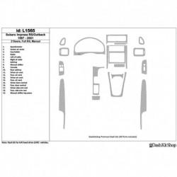 Накладки салона под дерево, карбон, алюминий для Subaru Impreza RS 1997-UP. Комплект L1565.