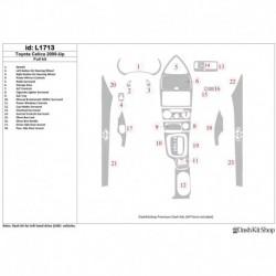 Накладки салона под дерево, карбон, алюминий для Toyota Celica 2000-UP. Комплект L1713.