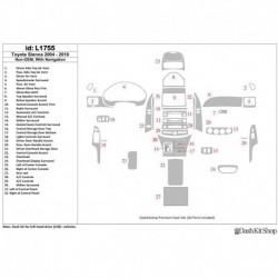 Накладки салона под дерево, карбон, алюминий для Toyota Sienna 2003-2010. Комплект L1755.