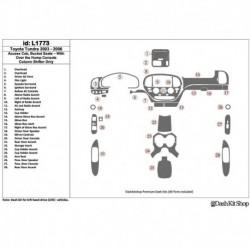 Накладки салона под дерево, карбон, алюминий для Toyota Tundra 2003-2006. Комплект L1773.