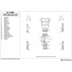 Накладки салона под дерево, карбон, алюминий для Toyota Camry 2012-UP. Комплект L1961.