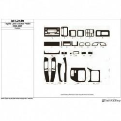 Накладки салона под дерево, карбон, алюминий для Toyota Land Cruiser Prado 2002-2009. Комплект L2440.