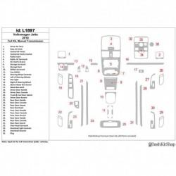 Накладки салона под дерево, карбон, алюминий для Volkswagen Jetta 2010-2010. Комплект L1897.