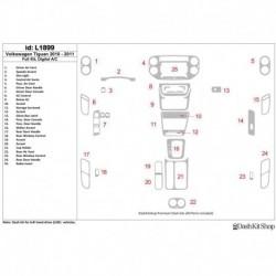 Накладки салона под дерево, карбон, алюминий для Volkswagen Tiguan 2010-2011. Комплект L1899.