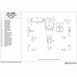 Накладки салона под дерево, карбон, алюминий для Volkswagen Jetta 2011-UP. Комплект L1903.