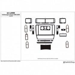 Накладки салона под дерево, карбон, алюминий для Volkswagen Passat 2000-2005. Комплект L2455.