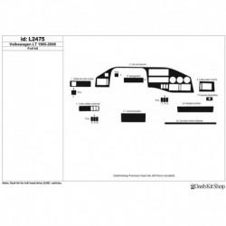 Накладки салона под дерево, карбон, алюминий для Volkswagen LT 1995-2006. Комплект L2475.