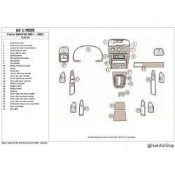 Накладки салона под дерево, карбон, алюминий для Volvo S40 2001-2003. Комплект L1835.