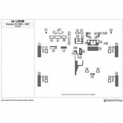 Накладки салона под дерево, карбон, алюминий для Hummer H1 2003-2007. Комплект L2538.