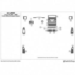 Накладки салона под дерево, карбон, алюминий для Lexus GX 2002-2006. L2542.