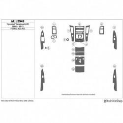 Накладки салона под дерево, карбон, алюминий для Hyundai Veracruz/ix55 2006-2012. Комплект L2549.