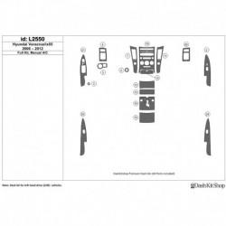 Накладки салона под дерево, карбон, алюминий для Hyundai Veracruz/ix55 2006-2012. Комплект L2550.