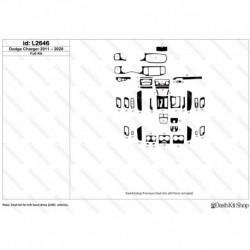 Накладки салона под дерево, карбон, алюминий для Dodge Charger 2011-2020. Комплект L2646.