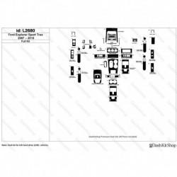 Накладки салона под дерево, карбон, алюминий для Ford Explorer Sport Trac 2007-2010. Комплект L2680.