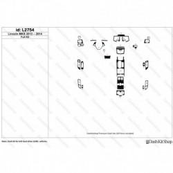Накладки салона под дерево, карбон, алюминий для Lincoln MKS 2013-2014. Комплект L2754.