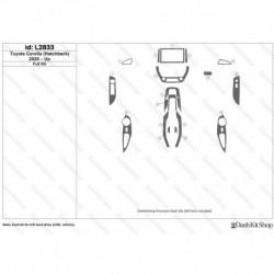 Накладки салона под дерево, карбон, алюминий для Toyota Corolla (Hatchback) 2020-Up. Комплект L2833.