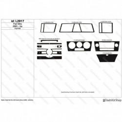 Накладки салона под дерево, карбон, алюминий для Fiat Stilo 2003-Up. Комплект L2917.