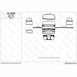 Накладки салона под дерево, карбон, алюминий для Fiat Linea 2007-Up. Комплект L2922.