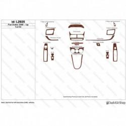 Накладки салона под дерево, карбон, алюминий для Fiat Doblo 2009-Up. Комплект L2925.