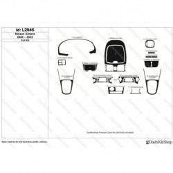 Накладки салона под дерево, карбон, алюминий для Nissan Almera 2000-2003. Комплект L2945.