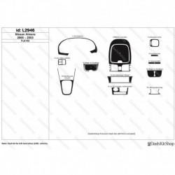 Накладки салона под дерево, карбон, алюминий для Nissan Almera 2000-2003. Комплект L2946.