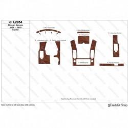 Накладки салона под дерево, карбон, алюминий для Nissan Navara 2006-2010. Комплект L2954.