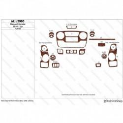 Накладки салона под дерево, карбон, алюминий для Nissan Interstar 2010-Up. Комплект L2965.