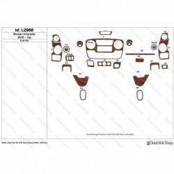 Накладки салона под дерево, карбон, алюминий для Nissan Interstar 2010-Up. Комплект L2966.