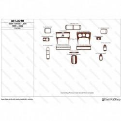 Накладки салона под дерево, карбон, алюминий для Seat Toledo/Leon 1999-2004. Комплект L3010.