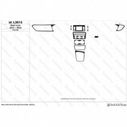 Накладки салона под дерево, карбон, алюминий для Seat Leon 5F 2012-2020. Комплект L3013.