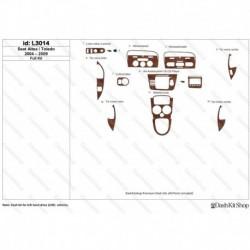 Накладки салона под дерево, карбон, алюминий для Seat Altea/Toledo 2004-2009. Комплект L3014.