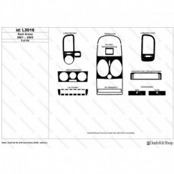 Накладки салона под дерево, карбон, алюминий для Seat Arosa 2001-2005. Комплект L3016.