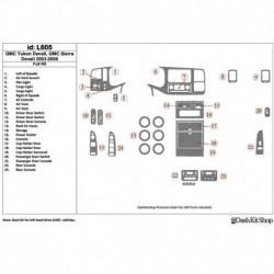 Накладки салона под дерево, карбон, алюминий для GMC Yukon 2003-2006 полный набор. Комплект L605.