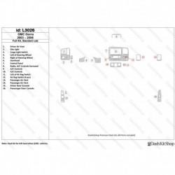 Накладки салона под дерево, карбон, алюминий для GMC Sierra 2003-2006 Full kit, Standard cab. Комплект L3026.