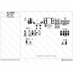 Накладки салона под дерево, карбон, алюминий для GMC Sierra 2007-2013 Full kit, SLE. Комплект L3035.