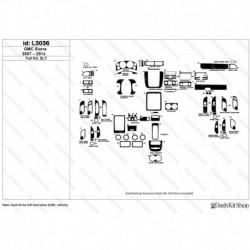 Накладки салона под дерево, карбон, алюминий для GMC Sierra 2007-2014 Full kit, SLT. Комплект L3036.