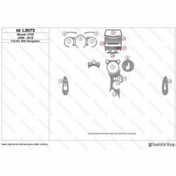 Накладки салона под дерево, карбон, алюминий для Nissan 370Z 2009-2018. Комплект L3073.