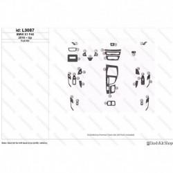 Накладки салона под дерево, карбон, алюминий для BMW X1 2016-Up. Комплект L3087.