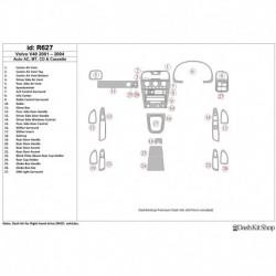 Накладки салона под дерево, карбон, алюминий для VOLVO V40 2001-UP. Комплект R627.