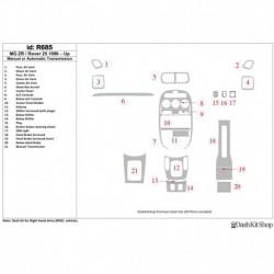 Накладки салона под дерево, карбон, алюминий для MG ZR 2001-UP. Комплект R685.