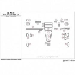 Накладки салона под дерево, карбон, алюминий для Seat Lion Cupra 2000-UP. Комплект R745.