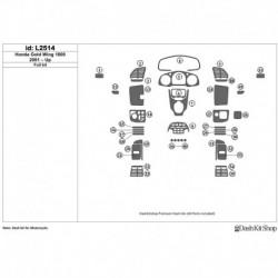 Накладки салона под дерево, карбон, алюминий для Honda Gold Wing GL1800 2001-UP. Комплект L2514.