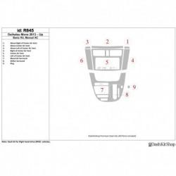Накладки салона под дерево, карбон, алюминий для Daihatsu Move 2013-UP. Комплект R845.